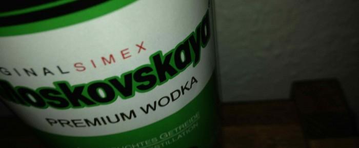 Die Flasche Wodka